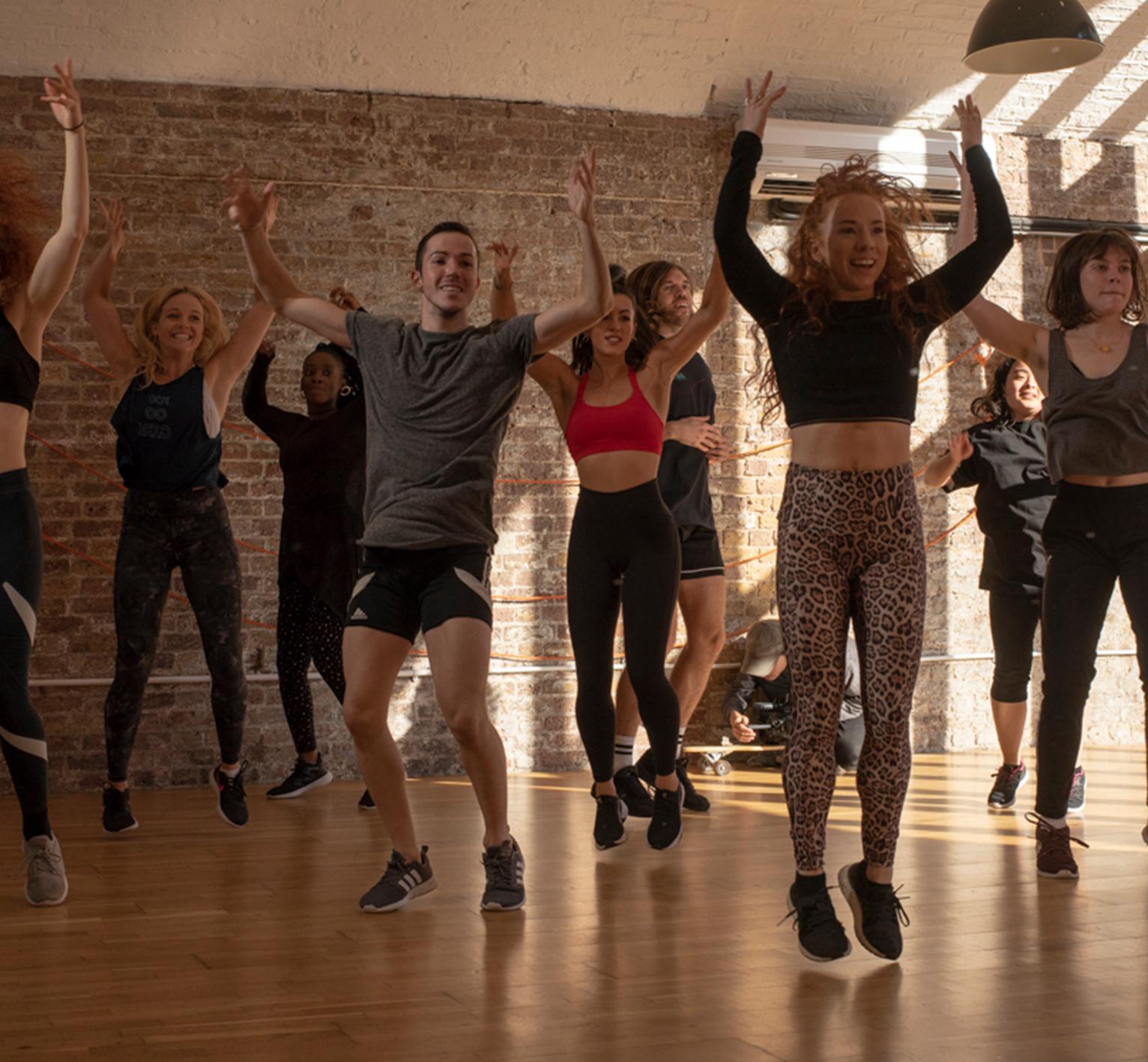 90's Dance Cardio Fitness Dance Class Frame